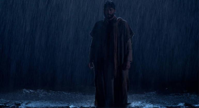 Jesus anda sobre as águas