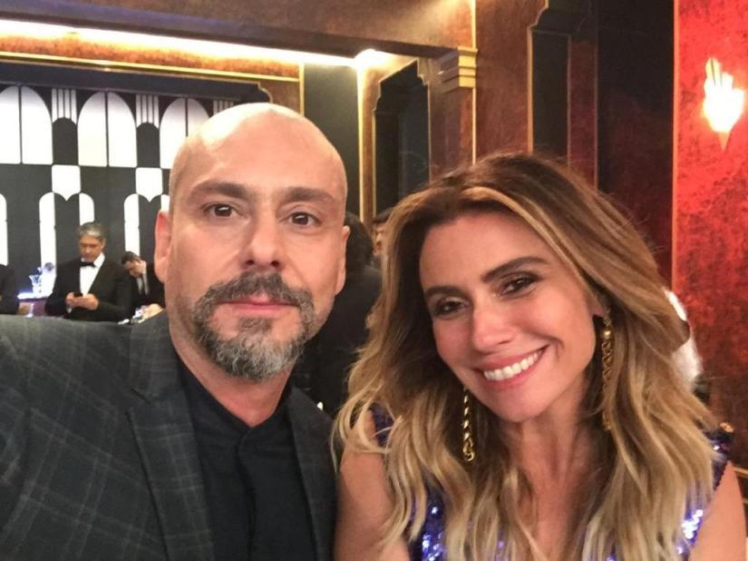 Troféu Domingão 2018 Alexandre Nero e Giovanna Antonellil