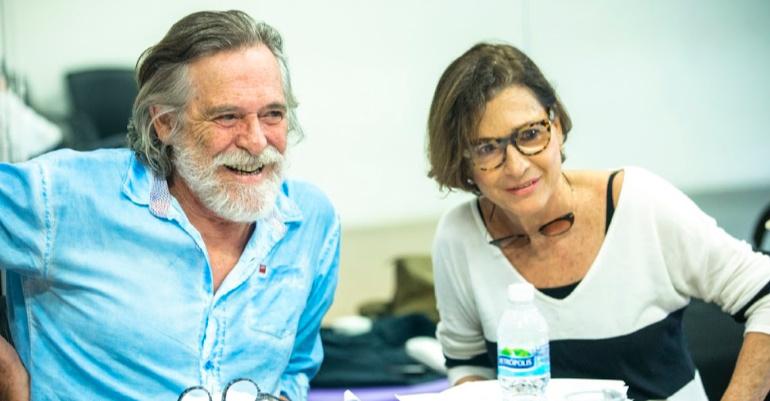 Preparação do elenco. Zé de Abreu e Natalia do Vale